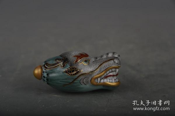 清乾隆琺瑯彩龍頭鼻煙壺2