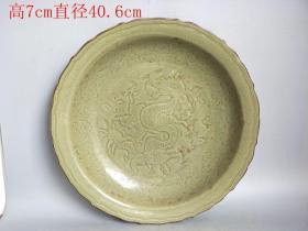鄉下收的明代龍泉窯瓷盤
