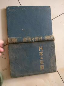 工作与学习        36开估计50年代精装日记本,封面暗花和毛选,内有毛像,记录三分之一,原物照相