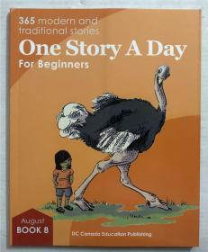 英文原版尾单正品平装带音频 one story a day  book 8-august8月8日一天一篇 无CD