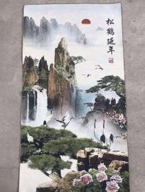 松鹤延年刺绣织锦绣