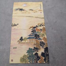 平湖秋色刺绣织锦绣