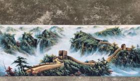 万里长城刺绣织锦绣山水画