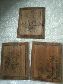 老木雕手绘画板