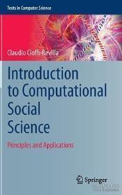 Introduction To Computational Social Science: Principles And Applications-计算社会科学导论:原理与应用