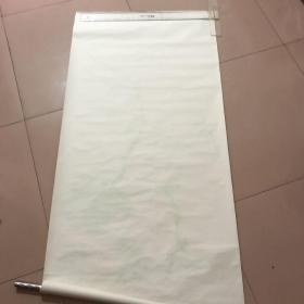 早期天津杨柳青旧制木版水印宣纸三张