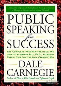 Public Speaking For Success-为成功而演讲