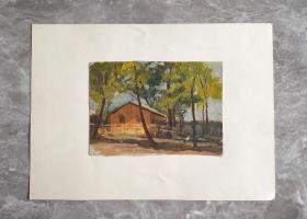 保真:五十年代 王少华绘 油画 房子