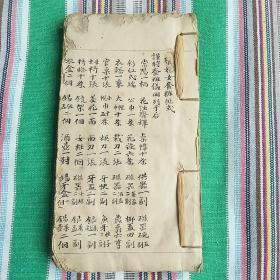 清代 毛笔手抄--民俗  字体工整、厚一本【地方禁约、时常烧香礼、写神主、山契劵、金石函盖、贴式 等】