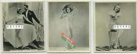 民国时期外国电影女明星银盐老照片三张,尺寸均为7.9X6.7厘米,泛银