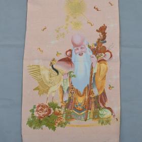 寿星唐卡刺绣织锦绣布画