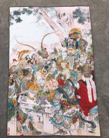 美猴王唐卡刺绣织锦绣西游记