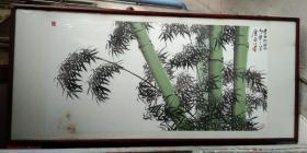 著名画家 唐岩(嵒)  先生 精美 大幅国画《青竹吐翠》