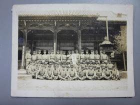 抗战时期民国照片-鬼子兵合影照片  尺寸:10.5CM*7.8CM