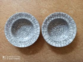 日本陶瓷烟灰缸二个