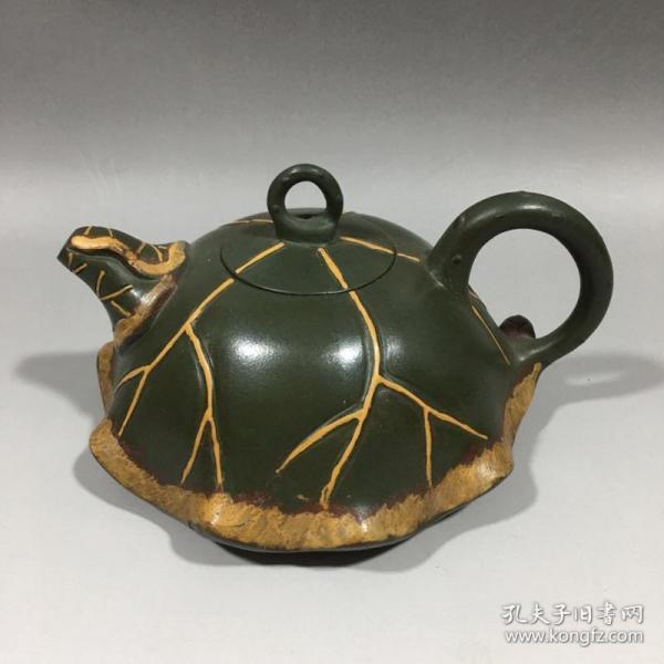 蔣蓉荷葉紫砂壺