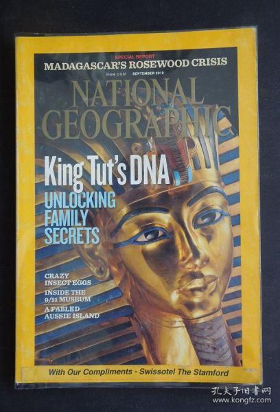 """《NATIONAL GEOGRAPHIC/國家地理》(2010年9月/封面故事:圖坦法老的DNA/詳見""""描述""""及圖片)"""