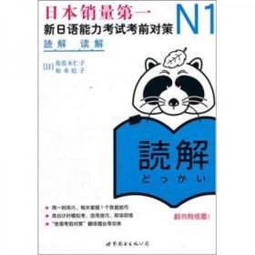 N1读解:新日语能力考试考前对策 8成新