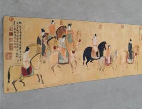 織錦繡畫像 戰馬圖