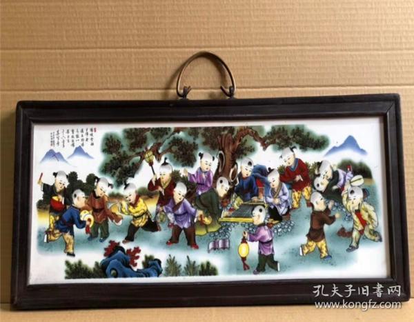 十六童子 陶瓷板畫