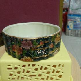 中國陶瓷精品~描金七彩水盂