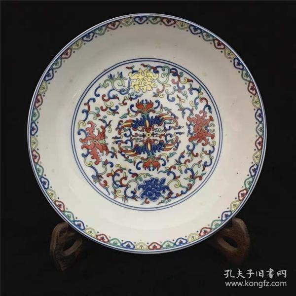 五彩八寶瓷盤
