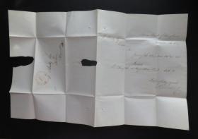 1834年11月26日美國(巴爾的摩寄黑格斯敦)實寄史前封、銷30分手寫郵資53