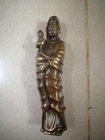 大型銅器觀音像擺件高22厘米