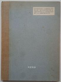 《Everyman》中世纪伦理剧1911年彩绘插图本手工装帧限量编号本毛边本