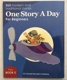 英文原版小学尾单正品平装带音频 one story a day  book 5-may 5月5日一天一个故事 无CD