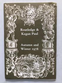 Routledge&kegan paul autumn and winter 1978