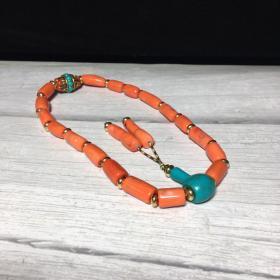 旧藏 珊瑚十八子手串 念珠 珠子直径9mm 古玩古董旧货收藏