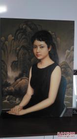 油画  少女