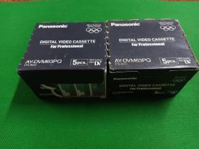 日本产正版未拆封、松下(panasonic)微型磁带2大盒10小盒。松下电器产业株式会社(日本 大坂)日本制造