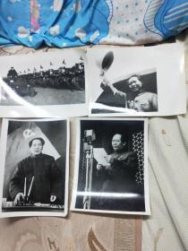 毛主席新闻照片60张尺寸21.2X15.2Cm