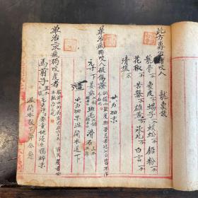 民国手抄本《中医药方底稿》一厚册。