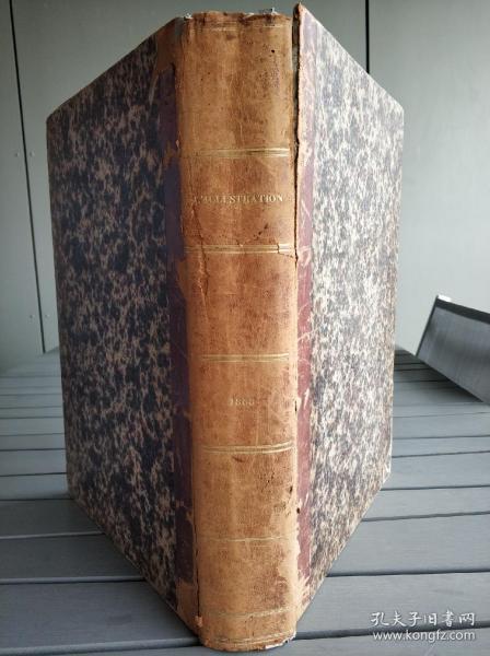 法國畫報《畫刊》1858年合訂本 1858年英法聯軍發動第二次鴉片戰爭。從廣州虎門奪取廣州開始,沿海岸一直北上。大沽口戰役,英法聯軍圍攻天津白河口,天津條約簽訂現場等一系列珍貴歷史瞬間都被完整記載。本書為法國巴黎近郊一市政府藏書。囊括全年期刊。每期報紙為八頁十六面,每期含七面版畫九面文字敘述。除有關第二次鴉片戰爭之外,亦有很多事關當時世界上重大事件的版畫。看描述。