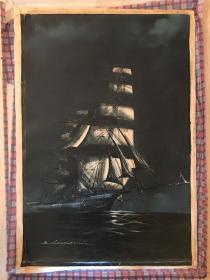 老油画 【帆船】 海外回流 (年代不详 请您自鉴)