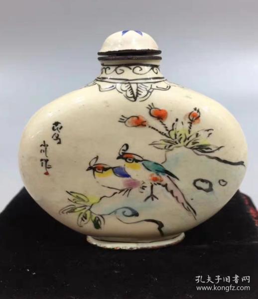 花鳥瓷器鼻煙壺