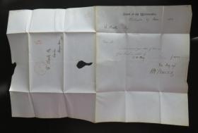 1851年6月17日(華盛頓寄黑格斯敦)史前封、銷5分郵資手蓋戳61