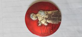 毛主席像章毛主席和林副主席親切接見紀念