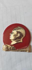 毛主席像章,林副主席為毛澤東機車題詞紀念