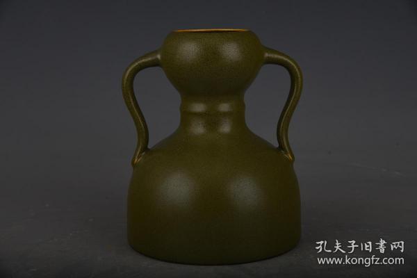 清乾隆茶葉末釉如意蒜頭瓶2