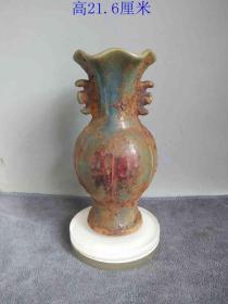 鄉下收的元代老鈞瓷瓷瓶