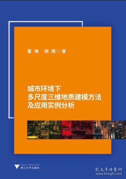 正版現貨 城市環境下多尺度三維地質建模方法及應用實例分析 董梅,胡輝 浙江大學出版社 9787308186124