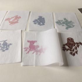 老剪纸,小动物8张一套,不议价,不退不换
