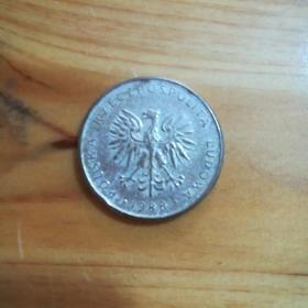 外国钱币 波兰1988年硬币(面值10)(YB3)