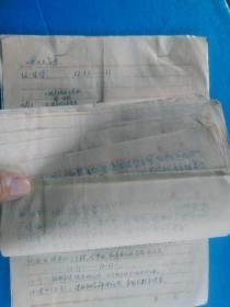手稿本:1979年度日记手写本,一位被错划右派的中学教师的流水日记(为平反准备的备忘录 22页)