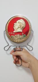 精美毛主席大烫金头像手拿镜子(1921-1969)