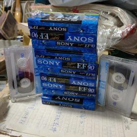 磁带 SONY 空白磁带 EF90 全新未拆封 十盘  赠送两盒拆封没用过的  共计12盘
